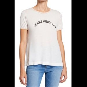 """Wildfox """"Champagneover"""" Graphic T-shirt"""